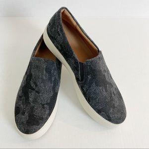 FRYE Lena Wool Grey Camo Slip On Sneaker